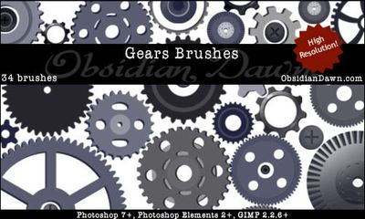 Gears-brushes