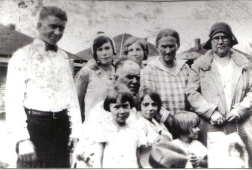 Annie Corman Alcorn and Family